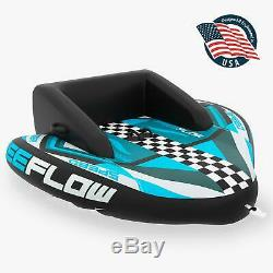 Heavy-Duty Inflatable Towable Booster Tube Two Person Water Tube Boating Fl