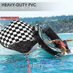 Heavy-Duty Inflatable Towable Booster Tube Two Person Water Tube Boating Float