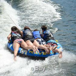 Inflatable 4 Person Rider Towable Boat Sports Lake Water Tube Razor Raft NEw