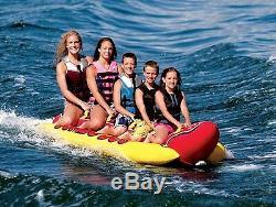 Inflatable 5 Person Towable Water Tubes Ski Flotation Tube Banana Boat Towables