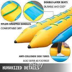 Inflatable Banana Boat 5/6/10 Rider Water Tube Towable Island Hopper Sled