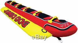 Inflatable Banana Boat Ride Towable 5 Person Jumbo Dog Tube Boat Water Float