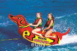 Inflatable Boat Towable Tube Super Dog Water Sports Lake River 1 to 2 Rider New