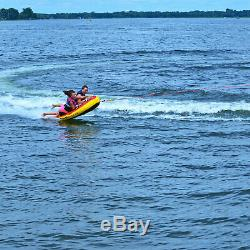 Inflatable Boat Tube Raft Towable 2 Person Rider Beach Wave Riding Water Tubing