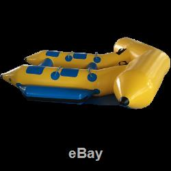 Inflatable Fly Fish Water Skiing Towable Banana Boat Tube for 4 person beach