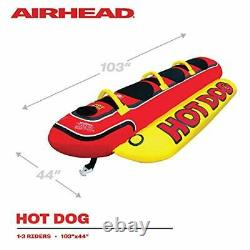 Inflatable Hot Dog Towable Banana Boat Water Sport Ski Tube 1-3 Rider Boating
