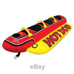 Inflatable Towable 2/3/5 Person Hot Dog Fun Tube Ski Water Lake Raft Banana Ride