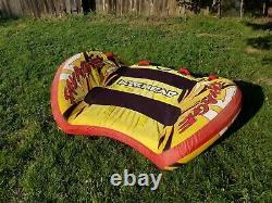 Inflatable Towable 2 Person Airhead Savage Tube Ski Water Lake Raft Fun Ride