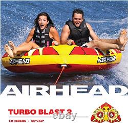 Inflatable Towable 2 Person Water Tube Raft Tow Ski Rider Float Boat River Lake