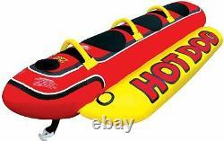 Inflatable Towable 3 Person Hot Dog Fun Tube Ski Water Lake Raft Banana Ride