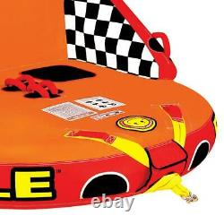 Inflatable Towable Big Mable Tow Sitting 2 Rider Boat Lake Tube Water Sports NEW