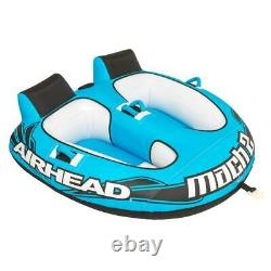 Inflatable Towable Float Water Sport Ski Tube Airhead 2 Rider Jet Boat Tow Raft