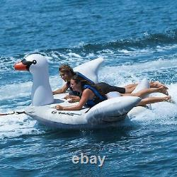 Inflatable Towable Giant Swan Tube 2 Person Boston Valve Outdoor Water Sports