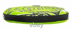 Inflatable Towable Tube 3-Person Boat Water River Raft Float Round Boating Ride