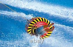 Inflatable Towable Tube Bullet-Shaped Water Raft Tubing Ski Boat Outdoor Sports