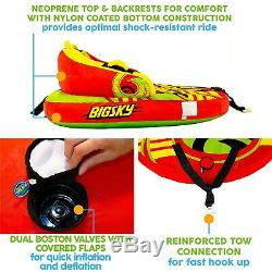Inflatable Towable Tube Rider 2 People Inflatable Water Sports Skiing float Lake