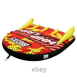 Inflatable Water Tube Towable 1-4 People River Raft Float Boat Tow Lake Sports