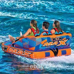 Inflated 1 3 Person Towable Tube Raft Lake Sea Water Pad Mat Lounge Swim Pool