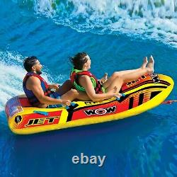 Jet Boat 2 Persons tube inflatable towable lounge water-ski 17-1020 WOW Sports