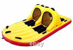 Jobetube Heavy Glider 4 Per. Insel Towable Tube Water Sports Motorboat Boat T99