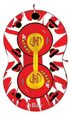 Kwik Tek Sportsstuff Towable Double Rider Water Tube Red/White/Black 53-1450
