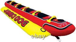 Lake Bay 5 Person Inflatable Kids Adult Jumbo Dog Water Towable Floating Tube