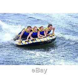 NEW 4 Person Towable Inflatable Tube Float Water Sport Boat Raft Tubing Ski Gift