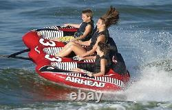 NEW Airhead VIPER, 3 rider, Multi, One Size (AHVI-F3) Towable Lake Water Tube