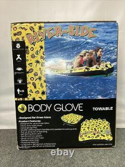 NEW Body Glove Riverside Water Skiing Inflatable Towable Deck 3 Person Tube
