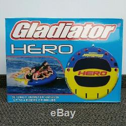 NEW! Gladiator Hero Towable Water Tube for up to 4 Riders 96 diameter