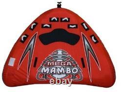 NEW Rave Sports 02367 Mega Mambo Water Boat Towable Tube Ski Sled with Warranty