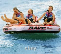 NEW Rave Sports 02379 Warrior 3 Water Boat Towable Tube Ski Sled with Warranty