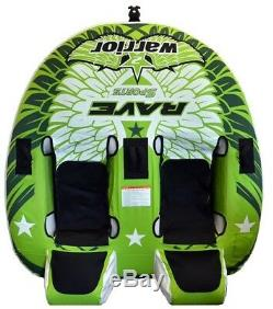 NEW Rave Sports 02462 Warrior 2 Water Boat Towable Tube Ski Sled with Warranty