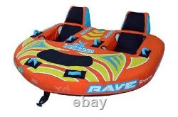 NEW Rave Sports 02643 Warrior X3 Inflatable Three Rider Towable Water Tube