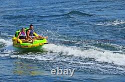 NEW Rave Sports 02644 #Stoked Inflatable Two Rider Towable Water Tube