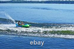 NEW Rave Sports 02650 RacerX Inflatable 2 Rider Towable Water Tube with Rave Tail