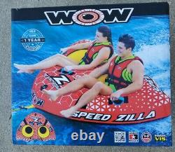 NEW WOW Watersports Speedzilla 1-2 Rider Towable Inflatable Water Tube