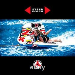 NEW World Of Watersports WOW 1-2 Person Zig Zag Towable Water Tubing Tube