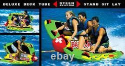NEW World Of Watersports WOW Big Bazooka 1-3 Rider Towable Water Deck Tube