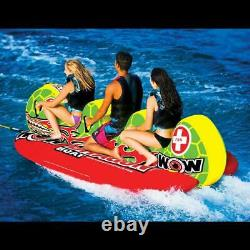 NEW World Of Watersports WOW Dragon Boat 3 Rider Towable Banana Water Tube