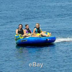 O'Brian Barca 2 Inflatable Towable Water Tube for Boating, 1-2 Riders, Blue