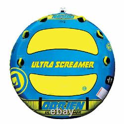 O'Brien Screamer Inflatable Towable Water Tube for Boating, 1-3 Riders (Used)