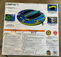 O'Brien Super Screamer 2 Person Inflatable Towable Boating Water Sports Tube