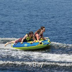 O'Brien Ultra Screamer Inflatable Towable Water Tube for Boating, 1-3 Riders