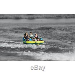 OBrien Barca 3 Kickback 3 Person Rider Towable Boat Water Tube Raft (2 Pack)