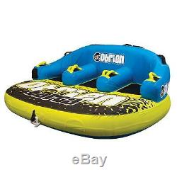 OBrien Barca 3 Kickback Inflatable 3 Person Rider Towable Boat Water Tube Raft