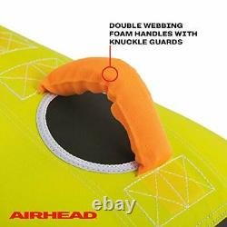 Poparazzi Inflatable Heavy-Gauge PVC Towable Water Tube, Green 2 Person