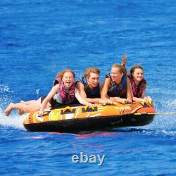 RAVE Sports 2709 Mass Frantic 4 Rider Inflatable Water Float Towable Boat Tube