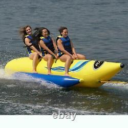 RAVE Sports 3 Rider Waterboggan Inflatable Water Lake Ocean Tubing Towable