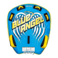 RAVE Sports Blue Angel Inflatable 2 Person Rider Towable Boat Water Tube Raft